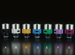 Wholesale airflow control thread contacts drip tips ss aluminum vape accessory for rda tank atomizer from Lomefo