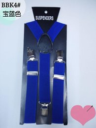 Wholesale Blue narrow straps children deserve to act the role of straps private suspender clip baby straps hanging trousers clips multicolor student p