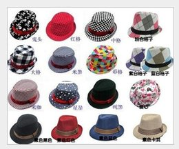 Fashion Plaid Boys Fedoras baby cap dicer top fedora hat children Modelling of cap kids baby boy Kids Jazz Cap Sun hat