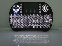 Wholesale HOT sale Portable Backlight mini keyboard Rii Mini i8 Wireless Keyboard Touch Pad with retail package