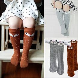 Newborn Toddler knee high sock Baby Boy bebe Girl fox Socks cotton Cute Cartoon Animal Cat leg warmers For newborns infantile