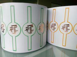 Des étiquettes en feuille imprimées en Ligne-2016 Nouveau produit Shenzhen usine d'approvisionnement personnalisé or Hot Stamping Foil auto-adhésif imprimé enduit Étiquette de papier