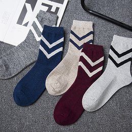Wholesale HANADASOX Japanese new autumn and winter retro AB yarn socks male cotton men in tube socks factory direct sales