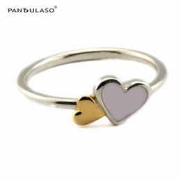 Luminous Hearts Ring With 14K Gold Sterling-Silver Newest Authentic Pure Sterling Wholesale Ring European Style Woman DIY Rings