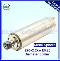 Wholesale ER20 KW V AC Water Cooled CNC Spindle Motor Spindle Motor wood door stone soft metal D85mm bearings working