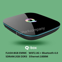 Wholesale New GB GB Amlogic S905 Quad Core Qbox Andorid5 TV BOX GHz WiFi BT4 KODI Q BOX Android Multimedia Box For TV