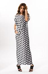 Women Milk Wire High Elasticity Short Sleeves Dots Loose Maxi Long Full Skirt Dress