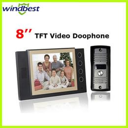 Luxury Smart Home Security 8 inch LCD Video Door Phone Doorphone Night Vision Intercom Security Video system Work Under 0 Degree
