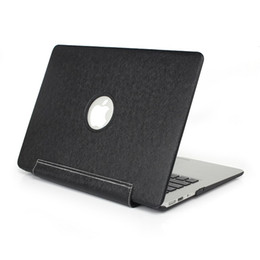 Luxury PU Leather Skin Plastic Case Protective Shell Cover for Macbook Air Pro Retina 13 15 inch Hard Protection Cases Front Back