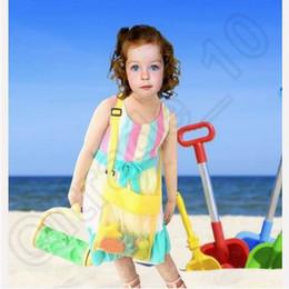 2017 stockage pour les jouets Jouets de plage pour enfants reçoivent des sacs de sable sacs de sable à l'écart de tous les Sand Sandpit enfants de stockage Shell Net Sand Away sacs de plage de poche CCA3796 200pcs stockage pour les jouets promotion