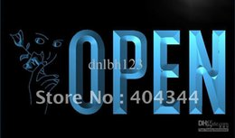 Wholesale LK730 TM OPEN Beauty Shop Salon Nail NEW Neon Light Sign Advertising led panel