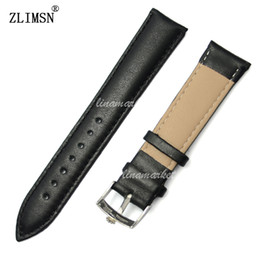 Watchbands 18mm 19mm 20mm 21mm New Top grade Smooth 100% Genuine Leather Watch Band strap with silver polished buckle For Rol