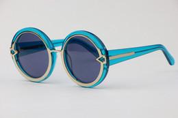 elegant Comfortable Men Women's General Sunglasses 1301488 blue round Retro style fashion glasses 5 pcs lot drop shipping