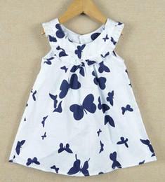 2016 new fashion summer kids girls dress patter shirt butterfly t-shirt dress pure cotton