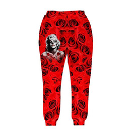 Wholesale Andy New style Men women sport joggers d pant print Monroe and Roses flowers elastic waist long trousers