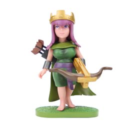 Wholesale Game Clash of Clans COC Archer Queen cm Pvc Action Figure Fan Collectible Model Plastic Toys For Boys Gift Doll