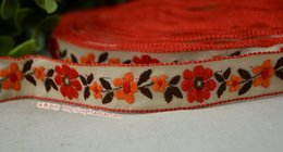 Wholesale The new fashion accessories bold single face woven Jacquard Ribbon lace ribbon woven Jacquard Ribbon ZAKKA17mmx10yards