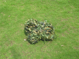 Wholesale camouflage netting fabric Hunting Tent Woodlands Camouflage net Camping Military jungle car drop netting hunting blind tent