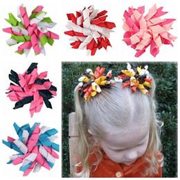50pcs curlers enfants bouclés ruban cheveux arcs clip fleurs 3.5