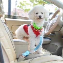 Wholesale 10 Colors Cat Dog Car Safety Seat Belt Harness Adjustable Pet Puppy Pup Hound Vehicle Seatbelt Lead Leash for Dogs Drop Shipping