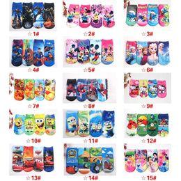 Wholesale 3D Cartoon Kids Boys Girls Socks Printed Cotton Frozen Micky Hello Kitty Snow White Boat Socks MC0062