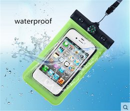 Wholesale For iPhone ROMIX Universal Underwater Dry Pouch Bag Super Sealed Waterproof Bag Case With Compass Arm Band Lanyard For Inch