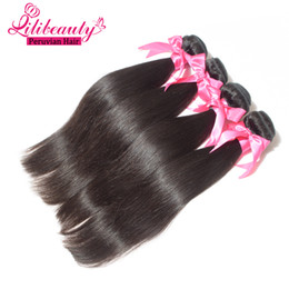 Grade 7A Peruvian Virgin Hair Straight Human Hair Extensions 4Pcs Lot Peruvian Hair Can Be Dyed, Bleached, Curled Hair Product