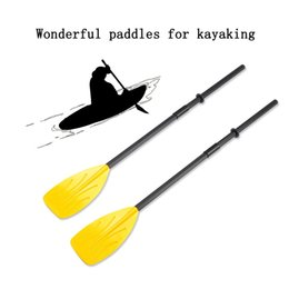 Wholesale A Pair of Paddles with Split Pieces Shaft Connectors Rubber Rings for your Rowing Boat Sea Kayak Paddles