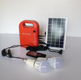 Wholesale 3W Solar lgihting system portable solar panel kit with LED bulb for home