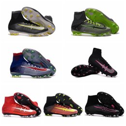Wholesale Children Kids Soccer Cleats Boots Boys Girls Mercurial Superfly CR7 FG TF Turf Soccer Shoes Cristiano Ronaldo Youth Men Women Football Boots