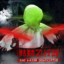 Wholesale 2016 New Drone with Camera Drones Hot Sale Halloween Skeleton Four Axis Aircraft Light Stunt Roll Feel The Smell of