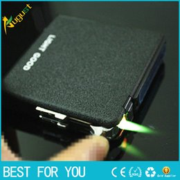 Wholesale Hot Sale New automatic smoking case with wind proof Butane lighters stainless steel