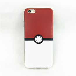 Wholesale Poke Ball Go Soft TPU Printed Pattren Silicone Cases Cover For iphone S Plus S S Per Mdoels With OPP Bag Package