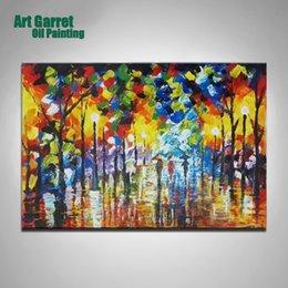 Ville peintures à l'huile de paysage à vendre-Peinture à l'huile sur toile Paysage Ville Rue Peinture murale photos pour salon Quadri moderni