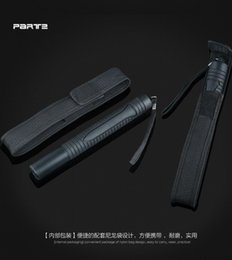 Wholesale 2016 hot selling Self defense whiplash import plastic PV paragraph three telescopic rod security patrol to women s self defense equipment