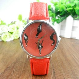 Wholesale 2016 Hot Women s Fashion Wristwatches Ladies Dress watch Diamond Lovely Face Leather Quartz Dance Watch Holiday gift