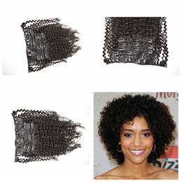 clip in hair extension brazilian curly human hair G-EASY hair 7pcs 120g 3a 3b 3c clip-on extensions