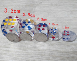 28mm Transparent 6 Sided Dices Clear Crystal Dice Playing Drinking Party Games Fun Children Game Toy Good Price High Quality #N20