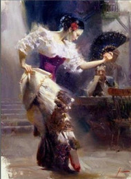 Wholesale quot The Dancer quot Spanish Beautiful Dancer by Pino Daeni Hand painted famous Impressionist Art Oil Painting Canvas customized size available ds