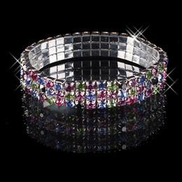 Wholesale Best Selling Wedding Bracelets Cheap Beautifui Row Multi stone Crystal Bangle Bridal Jewelry Cheap
