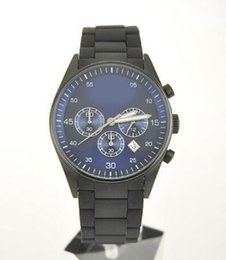Wholesale Absolute luxury NEW BLACK SILICON CHRONOGRAPH MENS LATEST WRIST WATCH AR5921