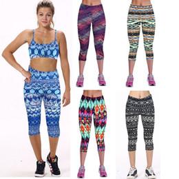 Short Leggings Mid Calf Printed Womens Legins Fitness Sport Seven Legging Fitness for Women