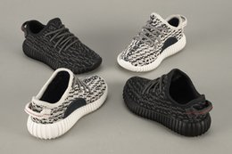 Wholesale Kim Kardashian Confirms Boost Infants Turtle Dove Pirate Black kids baby boost infant by kanye west runnin shoes with shoes box