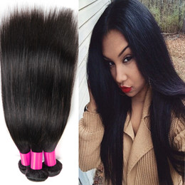 Brazilian Virgin Hair Straight Natural Black 3pcs lot Cheap Unprocessed Virgin Brazilian Straight Hair Weave Bundles
