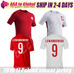 Wholesale Poland Soccer Jersey Home White Away Red Polska maillot de foot Lewandowski Piszczek Koszulki football Custom name