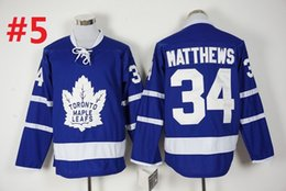 Wholesale Toronto Maple Leafs Matthews Hockey Jerseys Best quality ICE Winter Jersey Embroidery Logo Size M XL Mix Order