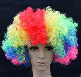 Wholesale Manufacturers Selling Party Supplies Christmas Party Dress Up Fans Explosion Wig Clown Color Optional