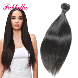 Wholesale 10A Malaysian Hair Bundles Hair Extension Suppliers uk Virgin Straight Hair Weaves Top Grade Quality Human Hair Fabbella Hair