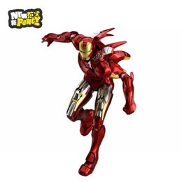 Wholesale 2016 New Action Figure Figma Marvel s The Avengers Iron Man EX018 MK43 PVC cm Luxury Edition Cartoon Toys Dolls Collectible Model