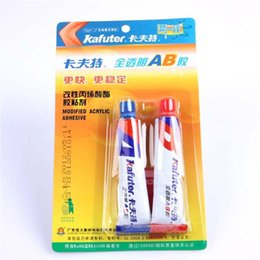 High quality 16g Kafuter transparent powerful multi-purpose AB glue clear quick-drying glass adhesive